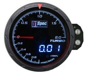 Zegar D1Spec 60mm - Turbo Electric 1-2 BAR - GRUBYGARAGE - Sklep Tuningowy